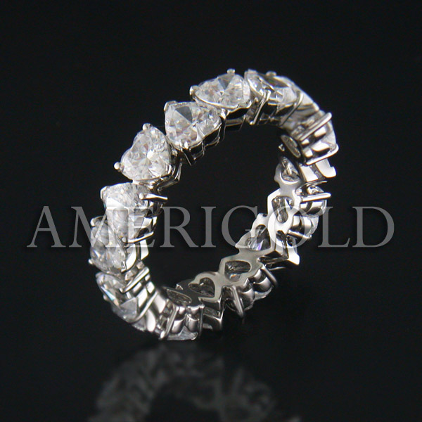 Heart Shape Diamond Eternity Band