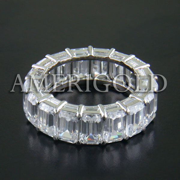 Eternity Band with Emerald Diamond Band