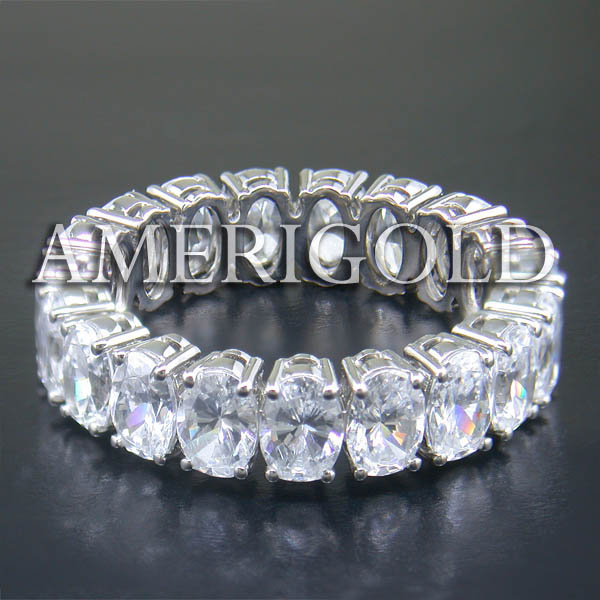 Oval Eternity Band