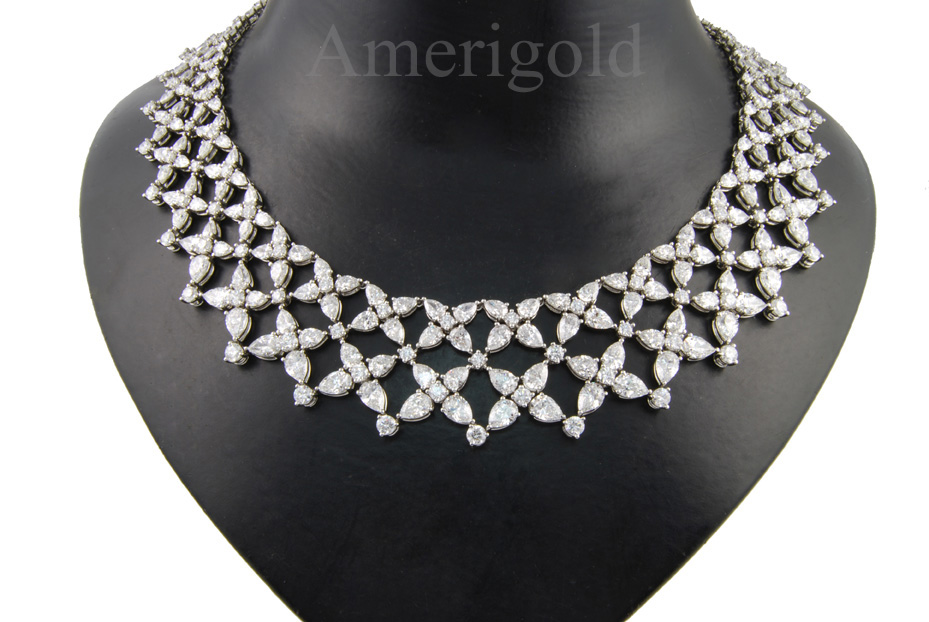 Custom Necklace Design Marquise and Round Diamond
