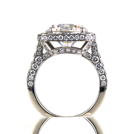 Platinum Diamond Engagement Ring by Amerigoldinc