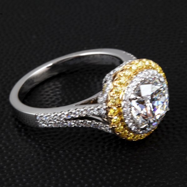 Gold Platinum Diamond Ring