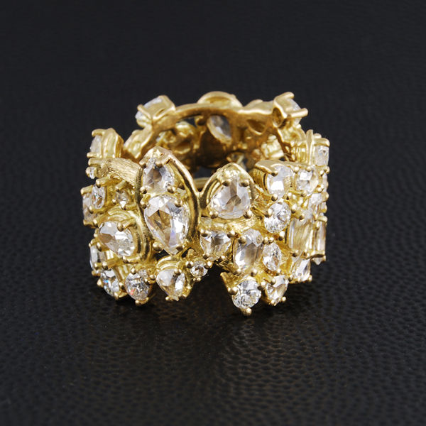 Gold Ring with Diamond Eternity Style