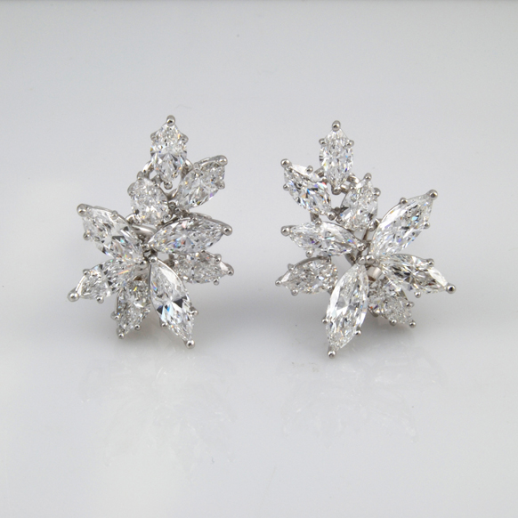 Earring with Marquise Diamonds