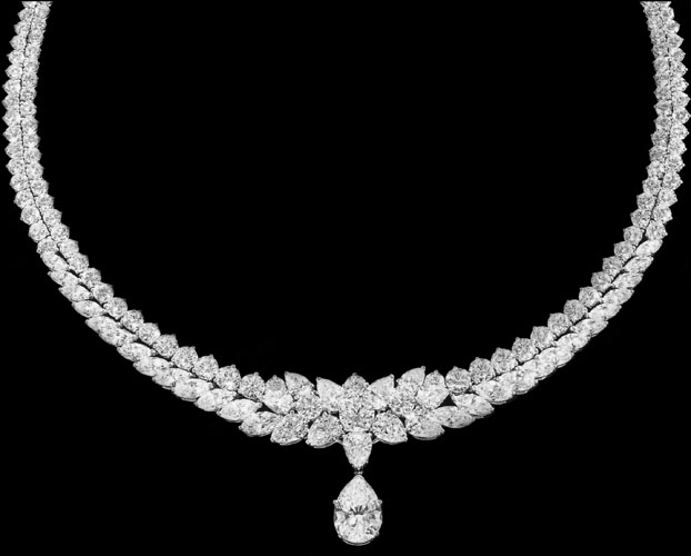 Pear Sharp Diamonds Necklace